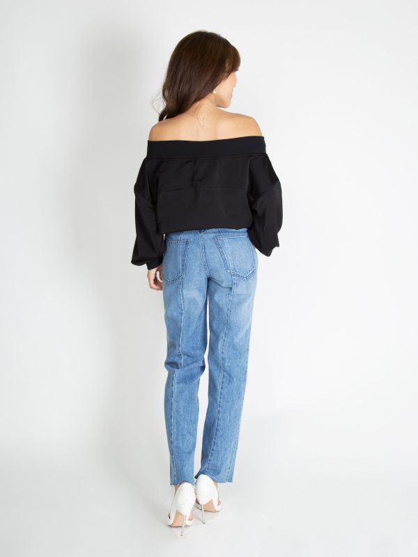 off-shoulder blouson