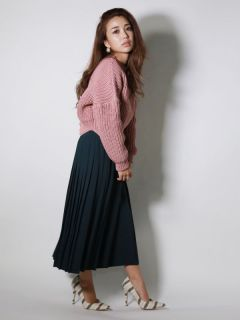 side pleated pants