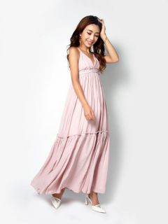 braid strap summer maxi dress